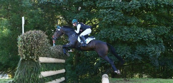 Elizabeth Hayden goes clear on Piper at Tattersalls 2015 3*