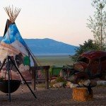 Close up tipi - Mustang Monument Horse Riding Holidays