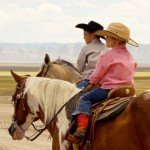 Kids riding - Mustang Monument Horse Riding Holidays